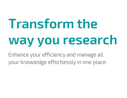 Tranform the way you research