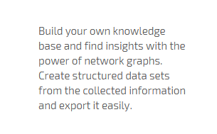 find insights and export in structured data sets